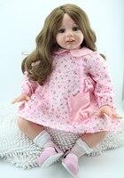 60cm Handmade Silicone Reborn Princess Doll Gorls Toy 24inch Lifelike Soft Silicone Reborn Baby Dolls Toddler Fridolin For Girls