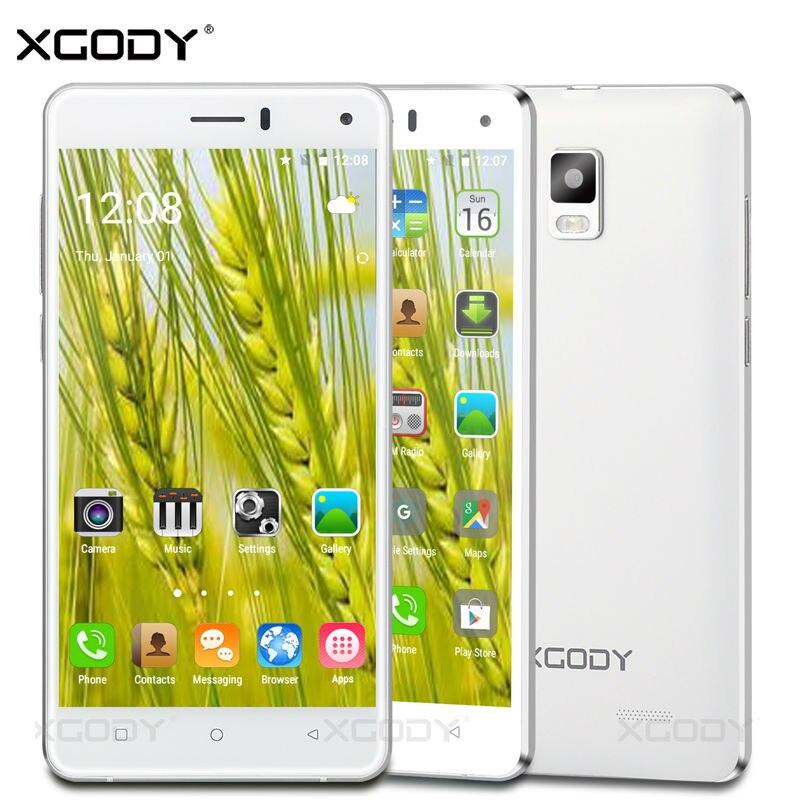 Цена за Xgody смартфон 5.0 дюйм(ов) 2 ГБ ram + 16 ГБ rom quad core с 8.0 МП Камера Android 5.1 Телефоны Celular 3 Г Разблокирована Сотовый телефоны