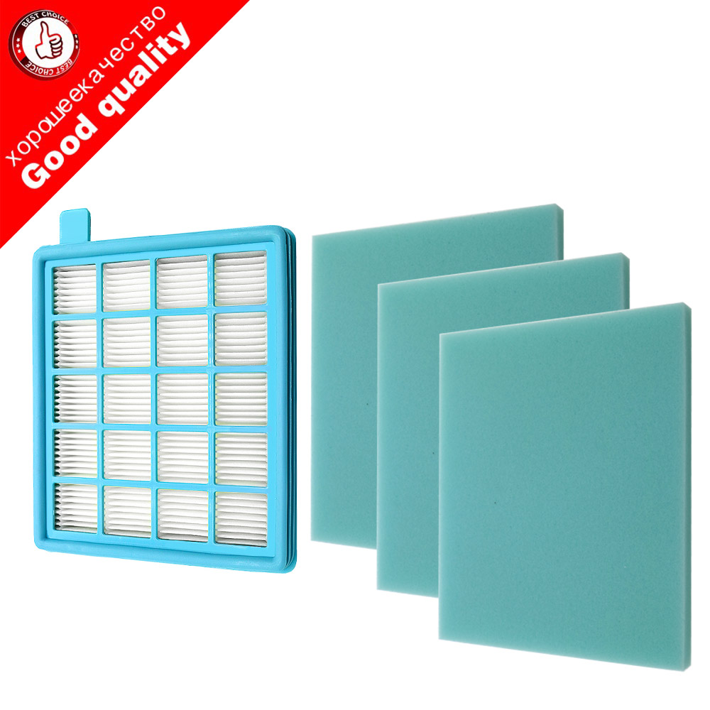 4pcs/lot Filter Mesh HEPA FILTER BUFFALO-MISTRAL For Philips Vacuum Cleaner FC8470 FC8471 FC8472 FC8473 FC8474 FC8476 FC8477(China)