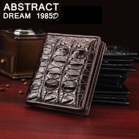 men Wallet fashion 100 % Alligator skin Classic Business wallet Short leisure men's tail bone wallets luxury real leather purse