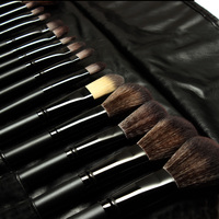 Stock Clearance 32Pcs Black Bag Makeup Brushes Professional Cosmetic Make Up Brush Set The Best