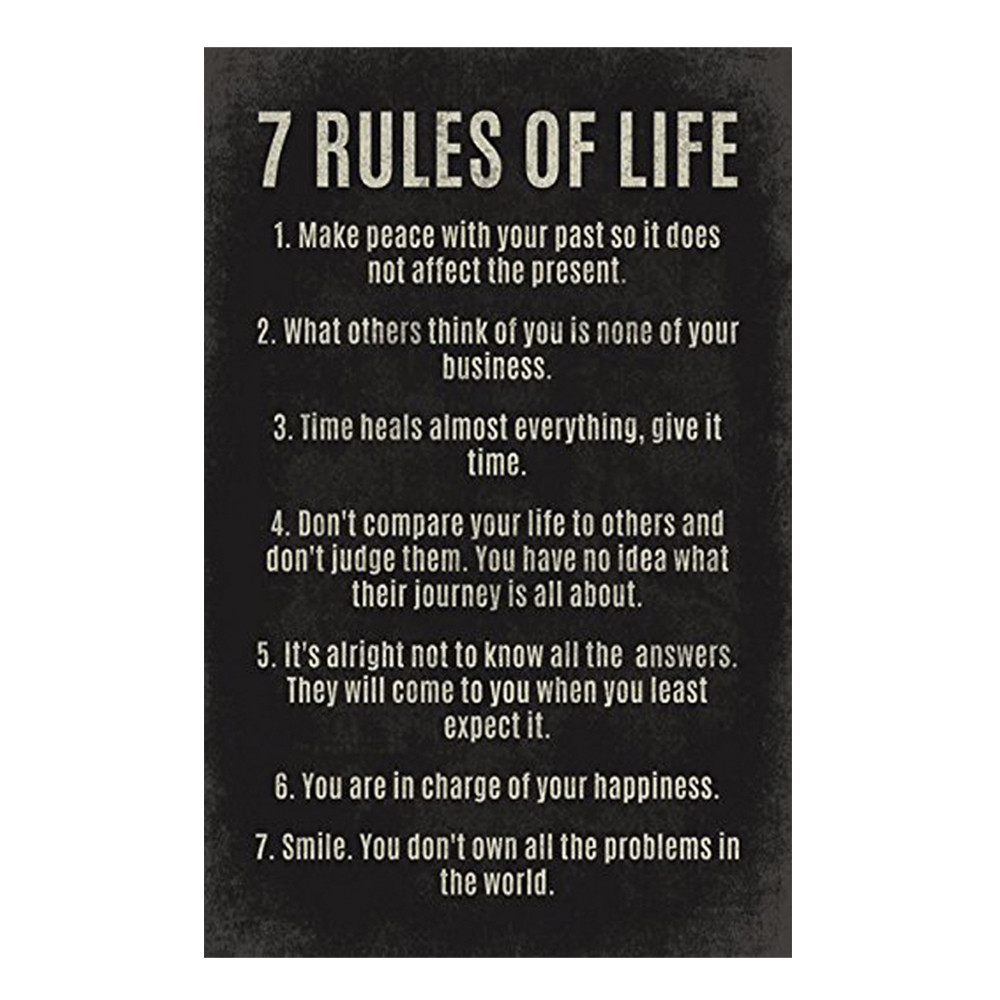 Art-Decals Poster Wall-Stickers Classroom-Reading 7 Rules-Of-Life And 30--45cm