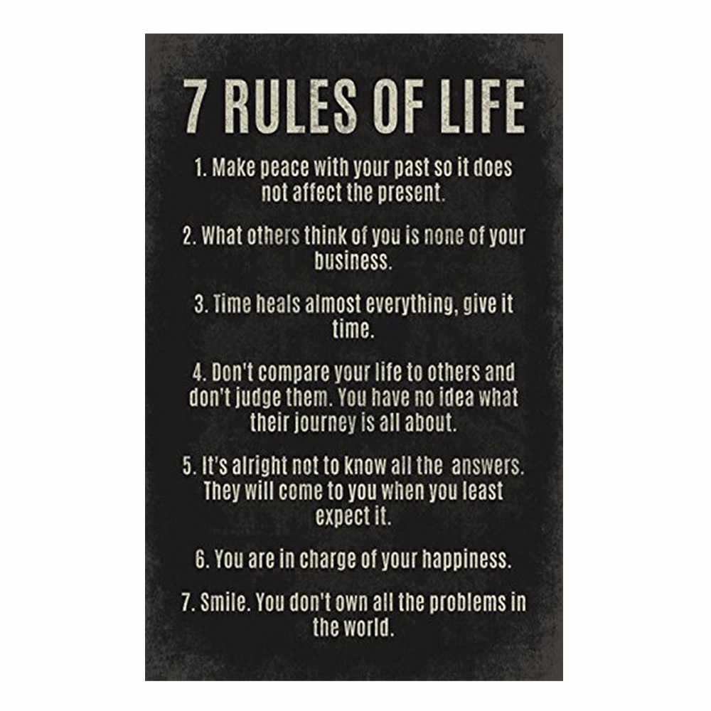 7 Rules Of Life Classroom Reading and Writing Poster 30*45 cm Art Decals  poster wall stickers