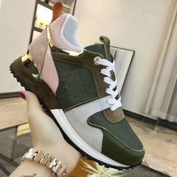 women shoes trainers ladies shoes sneakers breathable lace up flat casual shoes running