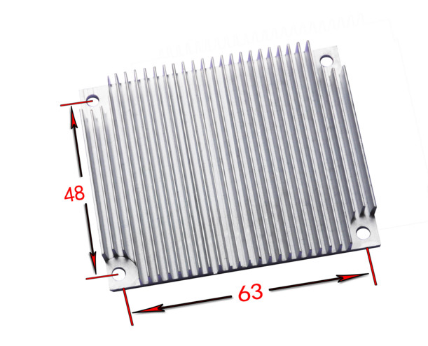 Fast Free Ship Module Heatsink 140*12.5*50MM Pure Aluminum Electronic Radiator Power Amplifier Cooling Plate