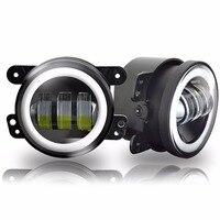 2 Pcs/paire 4 Pouce 30 W LED Brouillard Lumière Pour Jeep Wrangler JK 07 ~ 14 Haute Puissance LED Brouillard Lampe Automatique DRL Éclairage Led Projecteur