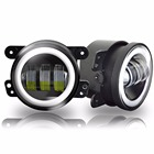 2PCS/Pair 4 Inch 30W LED Fog Light For Jeep Wrangler JK 07~14 High Power LED Fog Lamp Auto DRL Lighting Led Headlamp