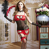 9790 Hot Sexy Babydoll Chemise Costumes Women Sexy Babydoll Lingerie Chiffon Sexy Clubwear Sets Sexy Holloween