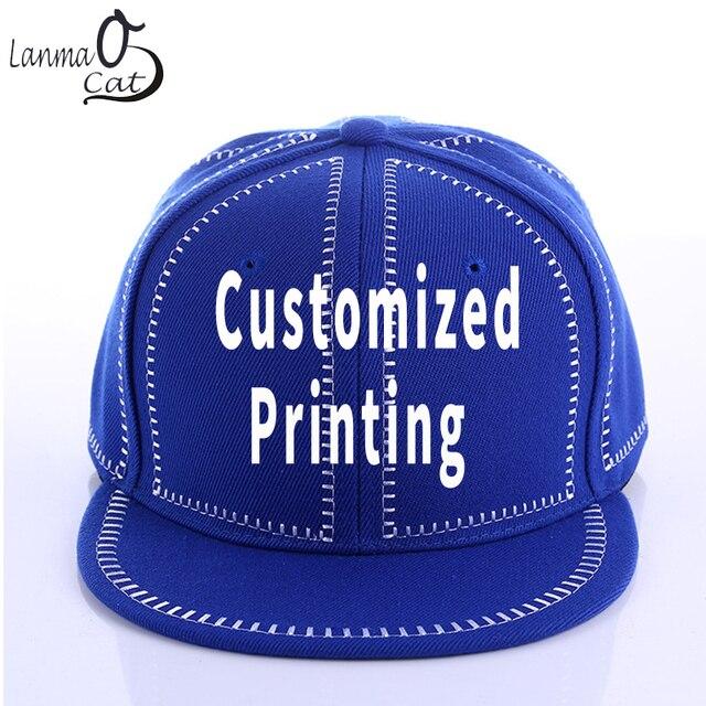 52879738b1c Lanmaocat Solid Color Plain Hip Hop Cap Men Women OEM Trucker Cap Custom  Design Flat Snapback Hat Summer Hat Free Shipping