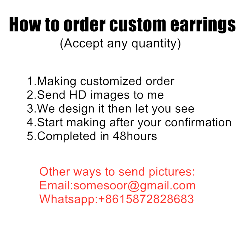 Custom earrings