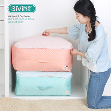 Sivin Gentle Storage Organizer Closet Bag with Zipper Washable for Clothes Bedding Sweater coloration Dot Sequence measurement XL 84Liter