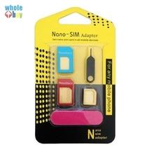 500set/lot 5 In 1 Nano Micro Standard Sim Card Adapter Kit C