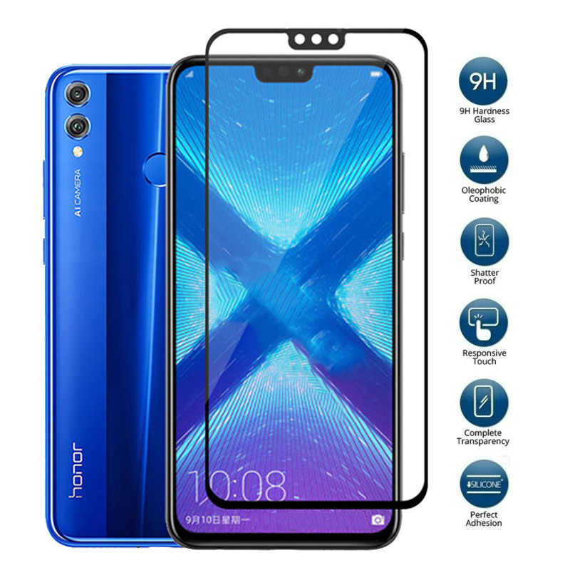 9H Protective Tempered Glass For Huawei Honor 10 9 8 Lite V10 7X 6X V9 Play 9i 7C 6C Pro Premium Screen Protector For Honor 8X