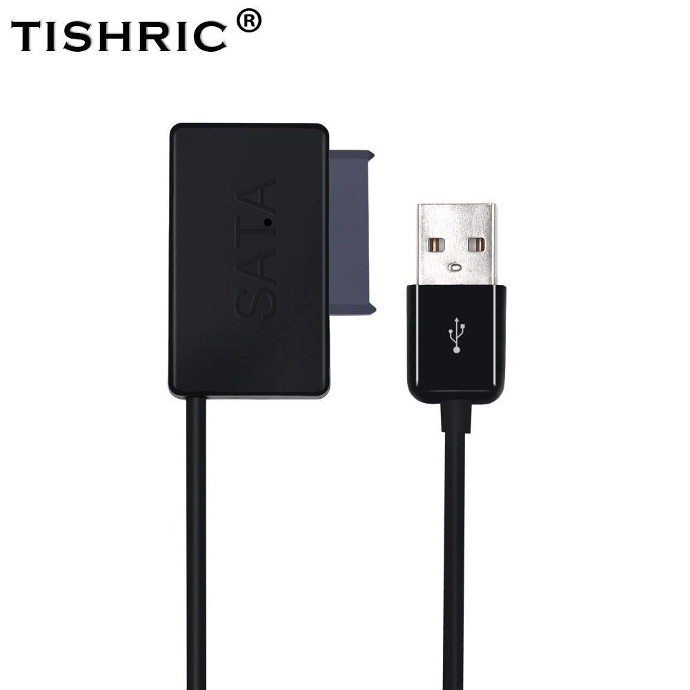 TISHRIC Molex Sata 7+6 to Usb 2.0 Adapter Cable Case Hdd Ssd Dvd Converter External Laptop Hard Drive Disk Optical Drive Adaptor цена