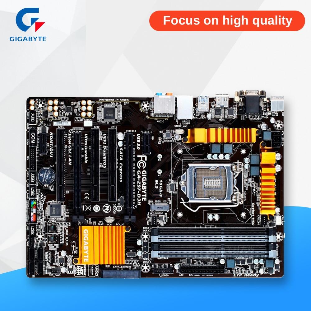 Gigabyte GA-Z97-D3H Desktop Motherboard Z97-D3H Z97 LGA 1150 i3 i5 i7 DDR3 32G SATA3 ATX asus z97 a usb3 1 original used desktop motherboard z97 a usb3 1 z97 socket lga 1150 i7 i5 i3 ddr3 32g sata3 usb3 0 atx