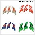 Плавники для серфинга FCS II G3  fcsII синий/белый/зеленый/красный новый стиль стекловолокна сот FCS 2 SUP доска хорошее качество FCS2 плавники