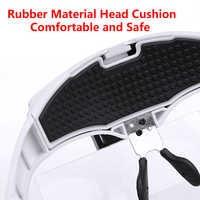 AdjustableLED Magnifying Glasses 1.0X 1.5X 2.0X 2.5X 3.5X Adjustable 5 Lens Headband Magnifier Glass Loupe LED Light
