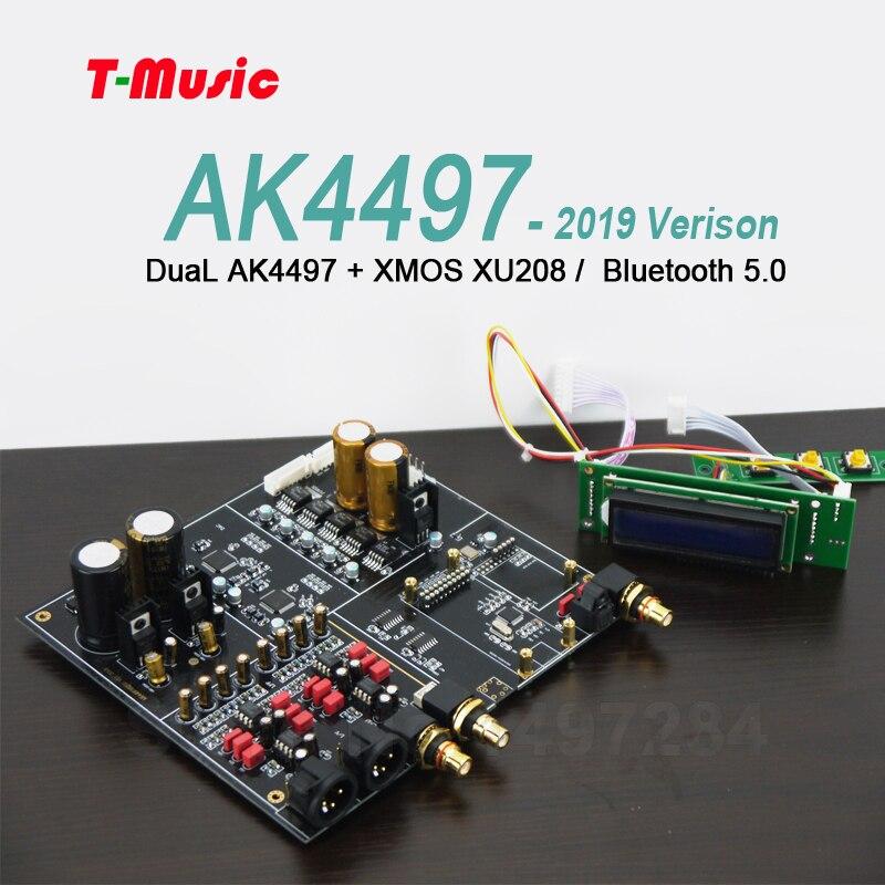 2019 NEW Dual AK4497 Bluetooth 5 0 DAC Decoder board Support XMOS / Amanero  I2S USB Input / XLR balanced Output
