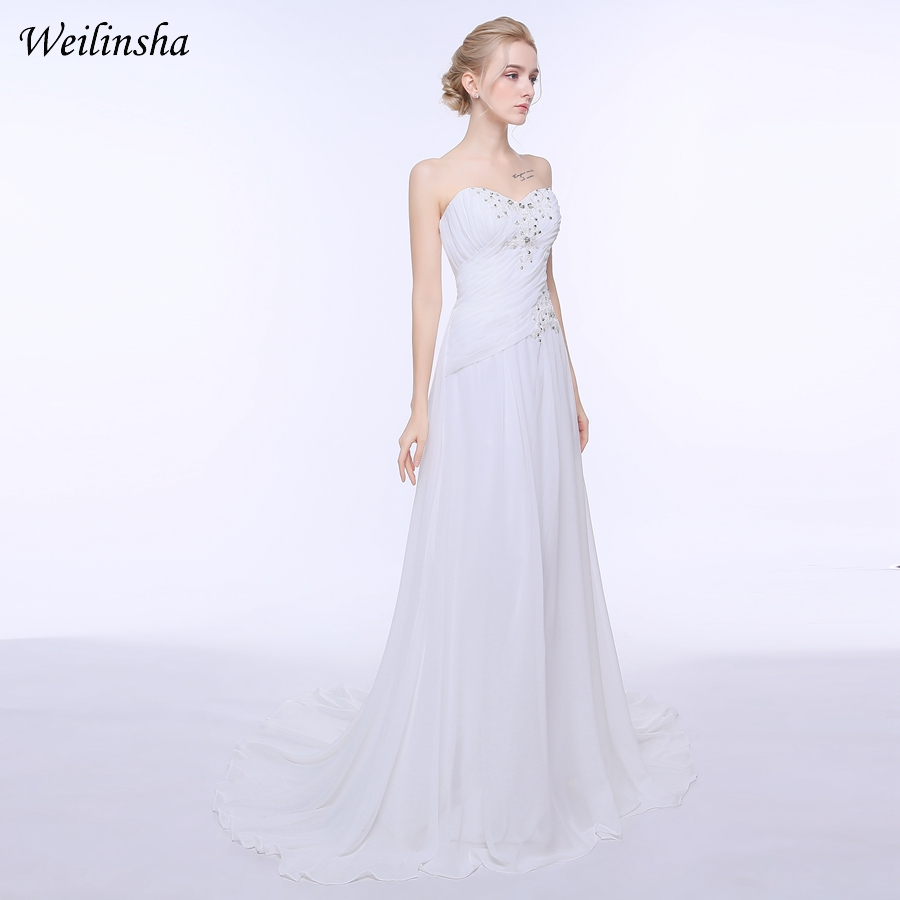 46162541710 Weilinsha Φτηνές Φορέματα Νυφικών Παραλία Beach Custom Sweetheart ...