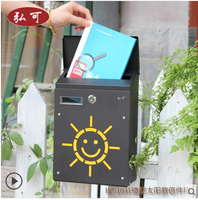 Antique Wall Mounted Zinc Coated Mailbox Postbox Mail Box Wall Mount Metal Post Letters Box Garden