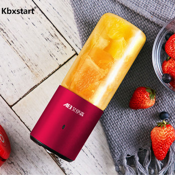 Electric Portable Juicer Mini Fruit Juice Maker USB Charging Smoothie Blender Dormitory Automatic Household Juicer Extractor jiqi household mini electric portable juicer glass juice cup 222w big power pink blue green