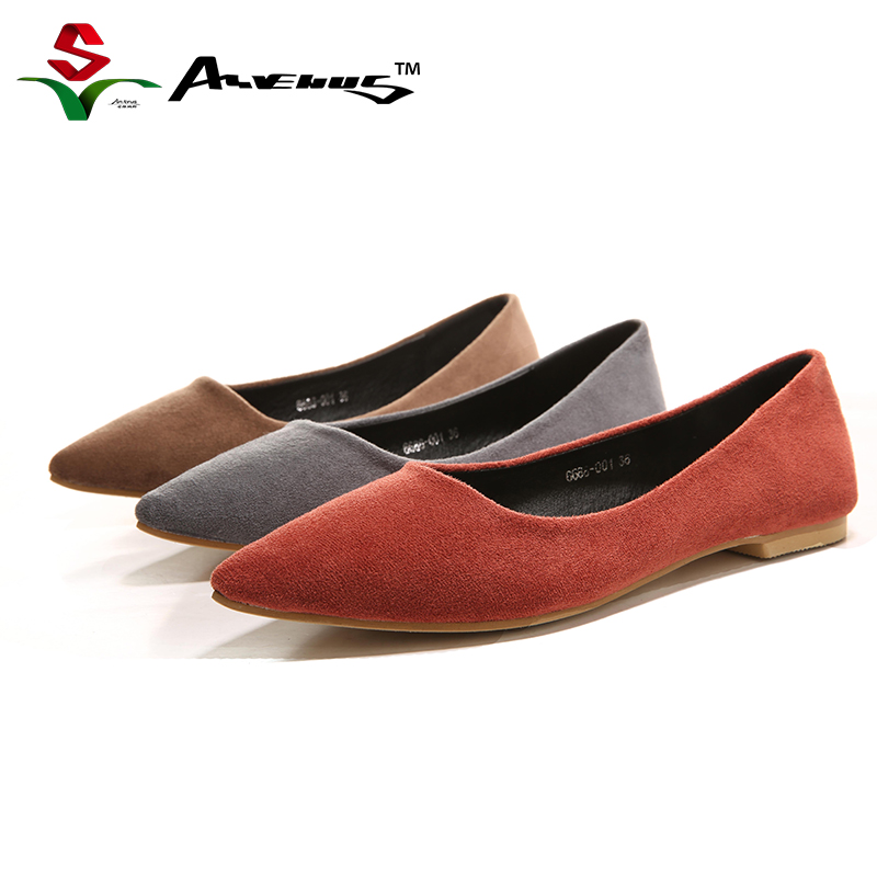 Anvenus Women Fashion Elegant Pointed Toe Flock Flats Lady Casual Party Office Charmming Super Soft Heel Spring and Fall Shoes new 2017 spring summer women shoes pointed toe high quality brand fashion womens flats ladies plus size 41 sweet flock t179