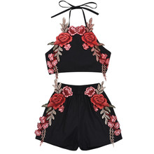 2019 New Kids Baby Girl Clothes Set Embroidery Flower Tank Top Shorts Casual Kids Clothes Toddler Summer Outfit Boutique 0-3 Y недорого