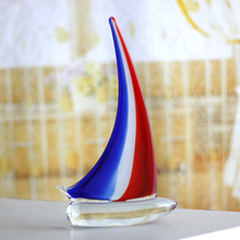 Creativity Coloured glaze sailing American Creative Wedding Gifts Tabletop  Furnishing Articles Home Decoration