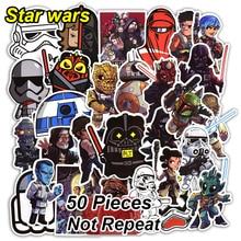 50 st Star Wars Stickers for Kids Laptop Heminredning Vinyl Dekal Bil Styling Bike Motorcykel Skateboard Cool Vattentät Klistermärke