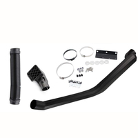 ABS Plastic Car Air Intake Rolling Head Snorkel System Black For 1984 2001 Jeep Cherokee