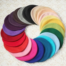 Casual Women Artist Beret Cap 20 Colors French Style Autumn Winter Vintage Soft Felt Wool Beanie