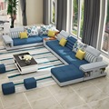 hot sale simple modern washable fabric U shape corner sectional sofa for living room