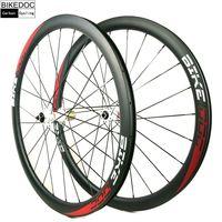 BIKEDOC Carbon Wheels Road Disc Brake 771 772 White Hub 700C Carbon Road Wheelset Disc Brake Carbon Clincher Wheelset