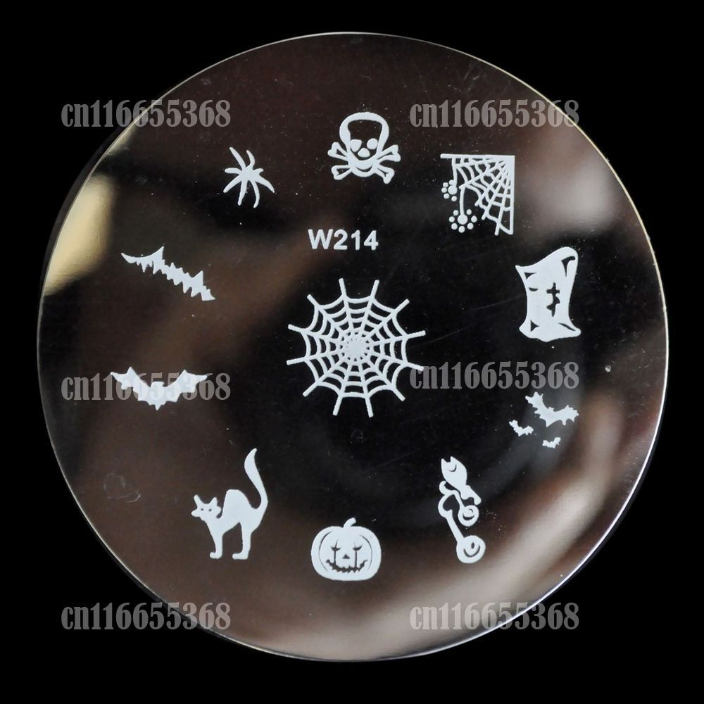 Nail Art Stamp Stamping Image Template Plate W Series Printing Mold Spider Web Cat Cool Halloween W214