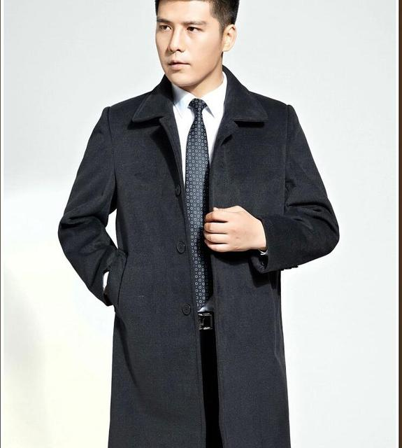 Men's Winter Wool Coat Long...