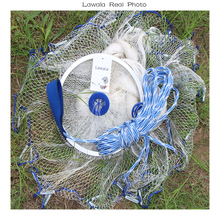 Lawaia Usa Fiske Nätverk Kasta Hand Nylon Mesh With Ring Net 3.6m Fishing Net Fishing Netgjutning Diameter2.4-7.2m
