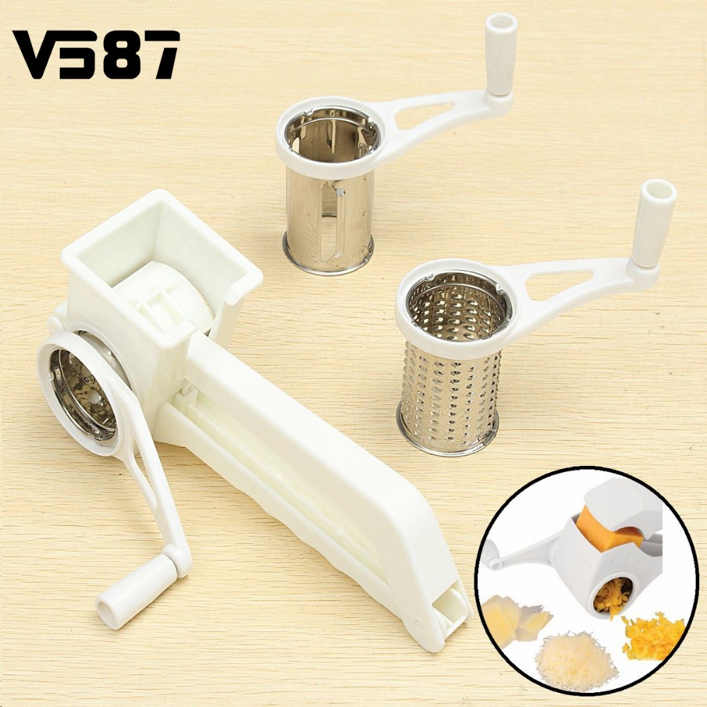ᗖStainless Steel Rotary Cheese Grater ヾ(^ ^)ノ Vegetable ...