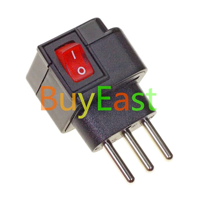 Universal to Italian Travel Adapter Multi Outlet Convert World Plug With LED Switch