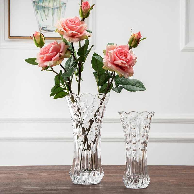 Transparent Glass Vase Small Hotel Dining Table Hydroponic Flowers Decoration Flower Vase Of Roses Inserted Transparent Glass Vase Glass Vaseglass Vase Small Aliexpress