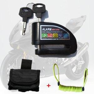 Image 1 - 送料無料セキュリティ盗難警報ロック moto rcycles moto バイク警報ディスクロック高スコア低音ホイール警報ロック