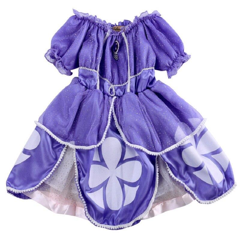 Bling Baby Mädchen Kinder Lila Sofia Kostüm Prinzessin Partei-abendkleid 2-7 Jahre Lila Halloween Kostüm Mädchen Kleider