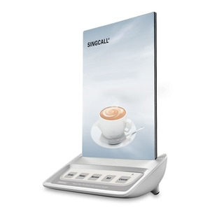 Image 3 - SINGCALL Calling  System waiter call button, white call pager with 5 keys entertainment places buttons