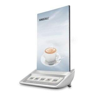 Image 3 - Singcall hệ thống gọi điện thoại nút gọi bồi bàn, trắng cuộc gọi máy nhắn tin với 5 phím nơi vui chơi giải trí nút