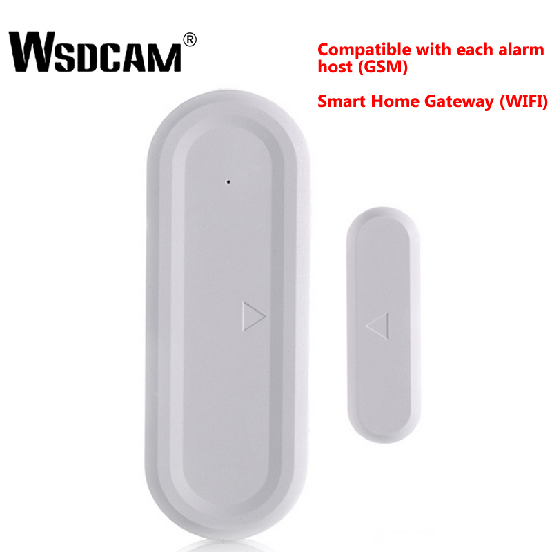 Wsdcam Remote Wireless Door Detector Contact Sensor Magnetic Sensor Compatible With Alarm Hosts GSM And Smart Home Gateways Wifi
