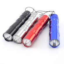 4 color Mini waterproof LED flashlight small keychain Flashl