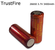 4pcs/lot TrustFire IMR  26650 3400mAh 3.7V Rechargeable High Drain Battery Batteries for Electronic Smoke Flashlight