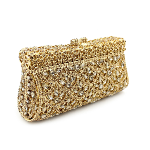 New 2017 Glitter women beaded clutch gold evening bags with chains handbag wedding dress bag party purse Banquet package bags new women diamond wedding bride shoulder crossbody bags gold clutch beaded tassel evening bags party purse banquet handbags li29
