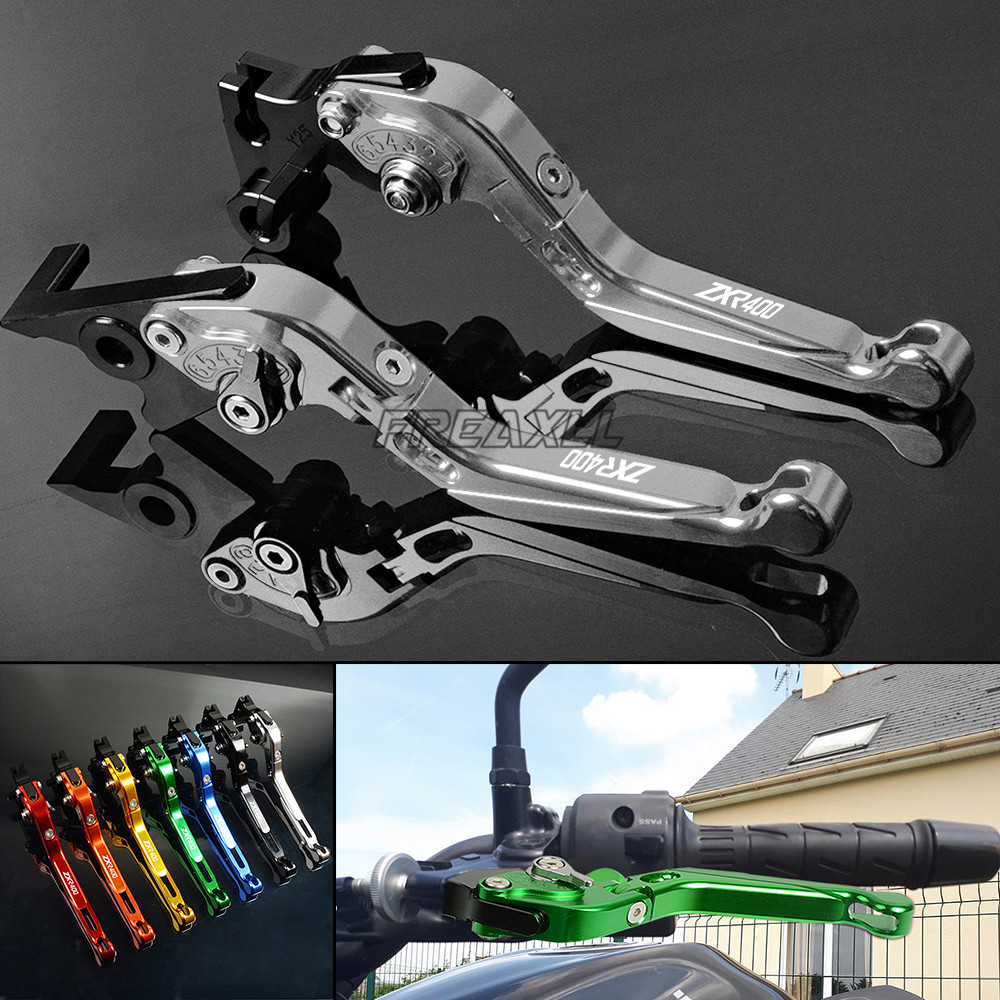 CNC Aluminum Motorbike Accessories Levers Motorcycle Brake Clutch Foldable Extendable For Kawasaki ZXR400 ZXR 400