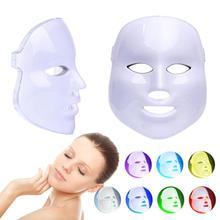 1pc ansiktsmaskskyddskåpa LED-ljusförstärkning Blodcirkulation Återanvändning Skönhet Full ansiktsupptagning Mask för ark Ansiktsskydd Verktyg Y3