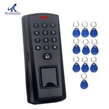 スタンドアロン指紋認証アクセス制御と防塵 125 125khz の rfid カードリーダー生体認証ドアアクセス制御キーパッドパスワード